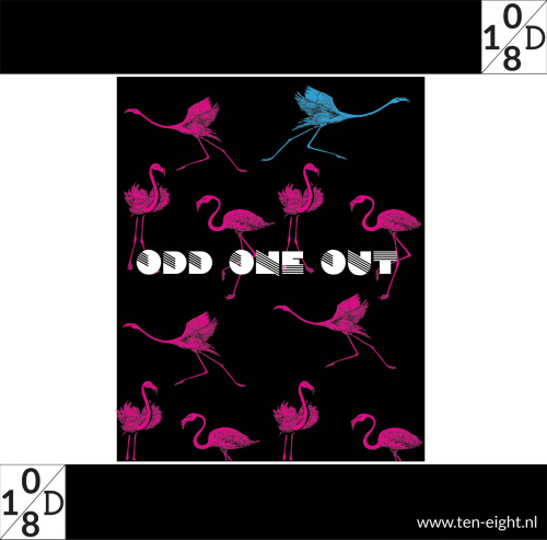 odd one out, plakposter, teksten, illustraties, custom, fun, wall, stickers, muur