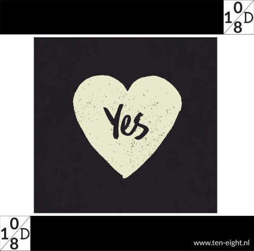 yes, plakposter, teksten, illustraties, custom, fun, wall, stickers, muur